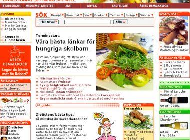 Tasteline redesign 2005