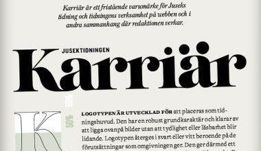 Karriär –den nya tidningens grafiska profil och logotyp
