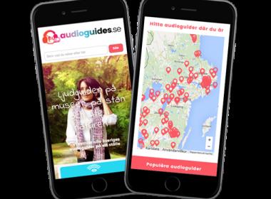 Formgivning och utveckling av Audioguides.se