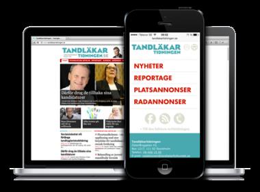 Mobil nyhetswebb för Tandläkartidningen