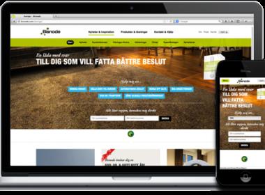 En webb kommunicerar för den internationella koncernen och lokalt i varje land